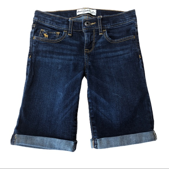 Abercrombie Kids Denim Roll-Up Bermuda Shorts